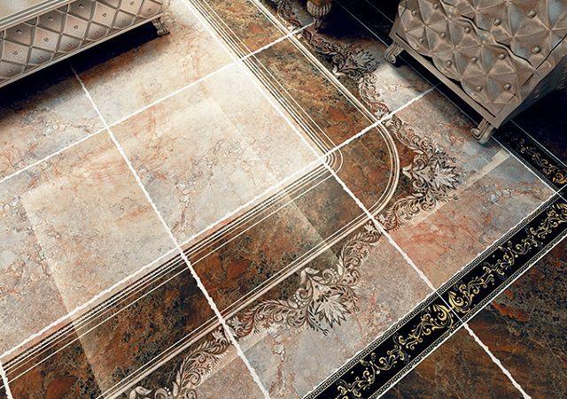 Керамогранитные плитки, покрытые глазурью, выполняющей и декоративную, и защитную функцию