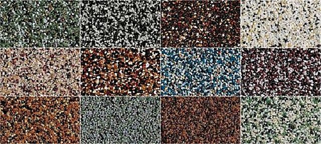 Фактуры специальных цокольных штукатурок на полимерной основе с наполнителем из натуральной каменной крошки