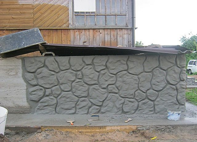 Штукатурка фундамента дома своими руками