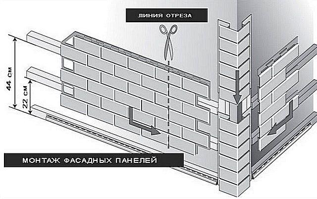Поступающие в продажу панели сопровождаются схематичными инструкциями по монтажу, подобно приведённой на иллюстрации