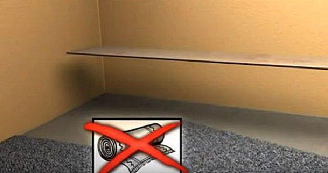 Никогда ламинат не стелется на какие бы то ни было ковровые покрытия