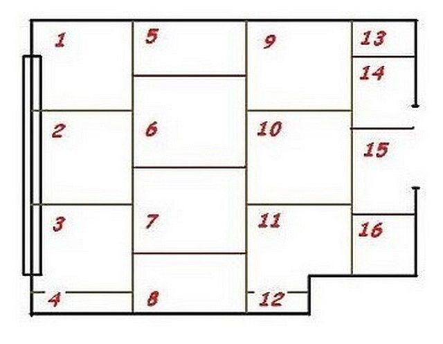 Пример предварительного планирования укладки фанерных листов
