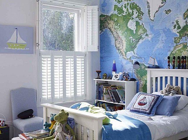 Морской стиль в умеренной «консистенции» может стать очень удачным решением оформления подростковой комнаты