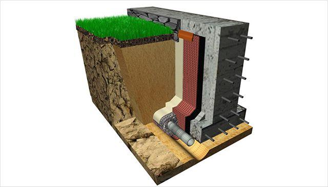 Система пристенного дренажа с профилированной геомембраной используется в современном строительстве все чаще