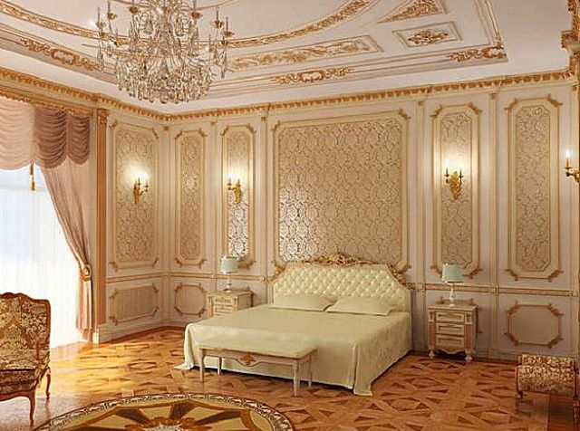 Стиль «барокко» подходит для оформления гостиных, спален, столовых. Часто применяется в частных домах, выстроенных в том же стиле.