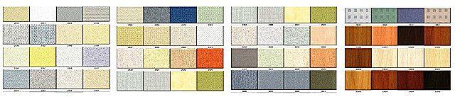 Эта далеко не полная таблица показана здесь для того, чтобы читатель мог хотя бы примерно представить разнообразие возможных вариантов декоративного оформления панелей