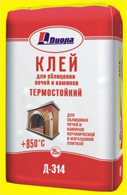В качестве примера: упаковка специальной сухой строительной смеси – термостойкого клея для облицовки печей