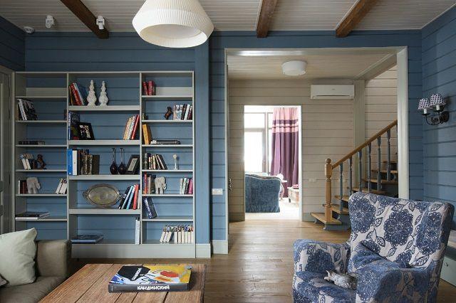 Покраска деревянного дома внутри