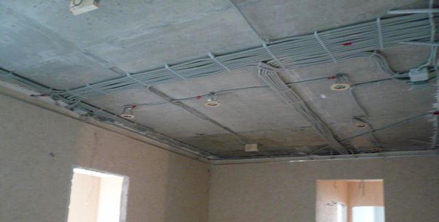 Самым «богоугодным» местом для разводки электрики является потолок