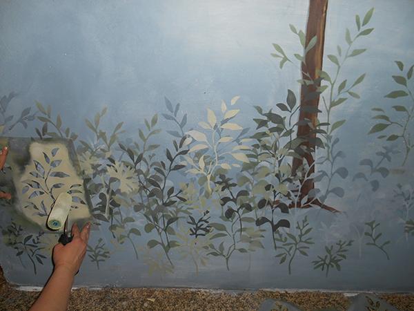 Роспись стен по трафарету своими руками