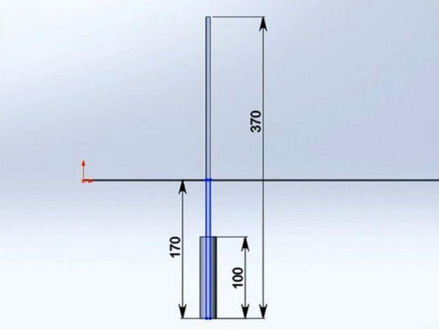 Схема установки опорных столбов забора