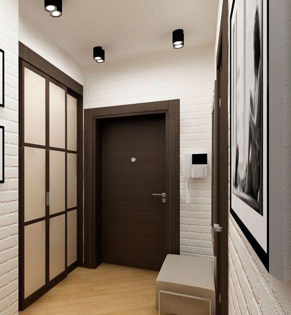 Отделка стен в коридоре и прихожей должна в полной мере гармонировать с потолком и полом