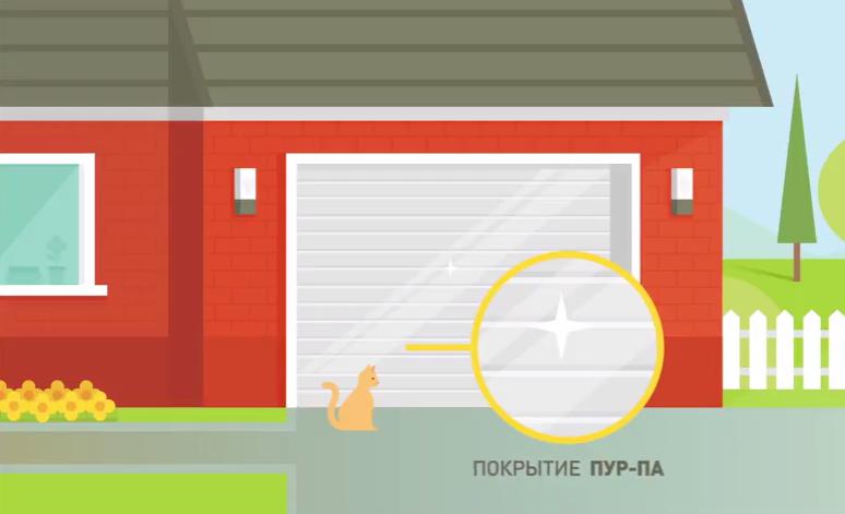 Покрытие ПУР-ПА на воротах Alutech словно кольчуга защищает полотно от царапин и потертостей
