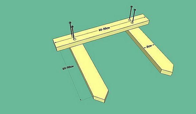 Таких обносок потребуется по две на каждый угол фундамента. Если планируется установка столбов, количество может быть увеличено.