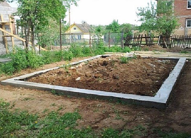 Ленточный фундамент – отличная основа для каркасной конструкции гаража.