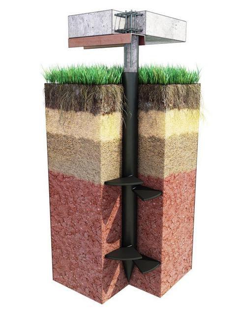 На особо ответственных участках строительства, для фундаментов, рассчитанных на тяжелые постройки, могут применяться винтовые сваи с двухъярусным расположением лопастей.