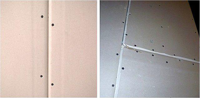 Сама технология облицовки стен гипсокартоном предполагает наличие стыков с заводскими или прорезанными фасками