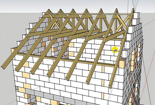 Как сделать мансарду в двускатной крыше 753