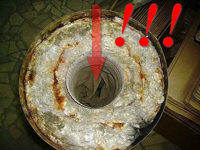Печальная картина, способная полечь буквально катастрофические последствия: внутренняя труба не выдержала выпадающей на нее химической и термической нагрузки и пришла в полную негодность