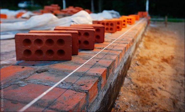 Ширина цоколя напрямую зависит от особенностей и материала возведения стен будущего дома