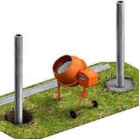 Калькулятор расчета количества бетона для установки металлических столбов для забора