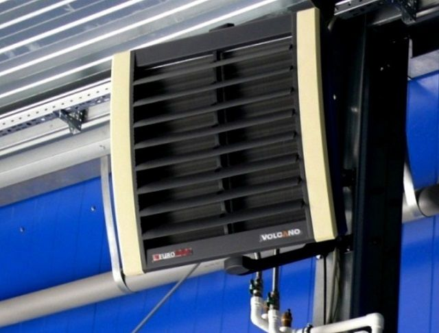Водяной агрегат воздушного отопления «Volcano».