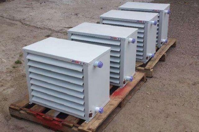 Воздушные нагревательные агрегаты с водяным теплообменником