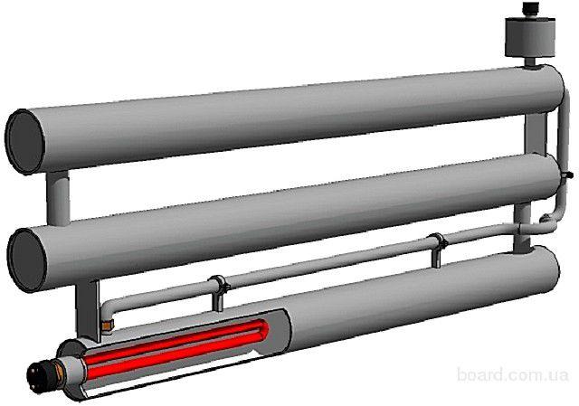 Регистр может быть и независимым от общей системы отопления – если его оснастить ТЭНом и предусмотреть некоторые изменения конструкции для обеспечения циркуляции теплоносителя