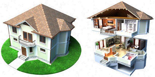 На общее количество теплопотерь в помещении влияет и то, что расположено над и под ним