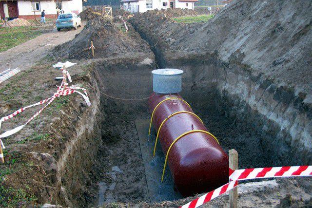 Установка подземного газового резервуара – газгольдера