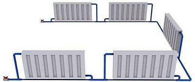 Радиаторы врезаны по схеме «ленинградка». Чем не байпасы внизу, по линии трубы разводки?