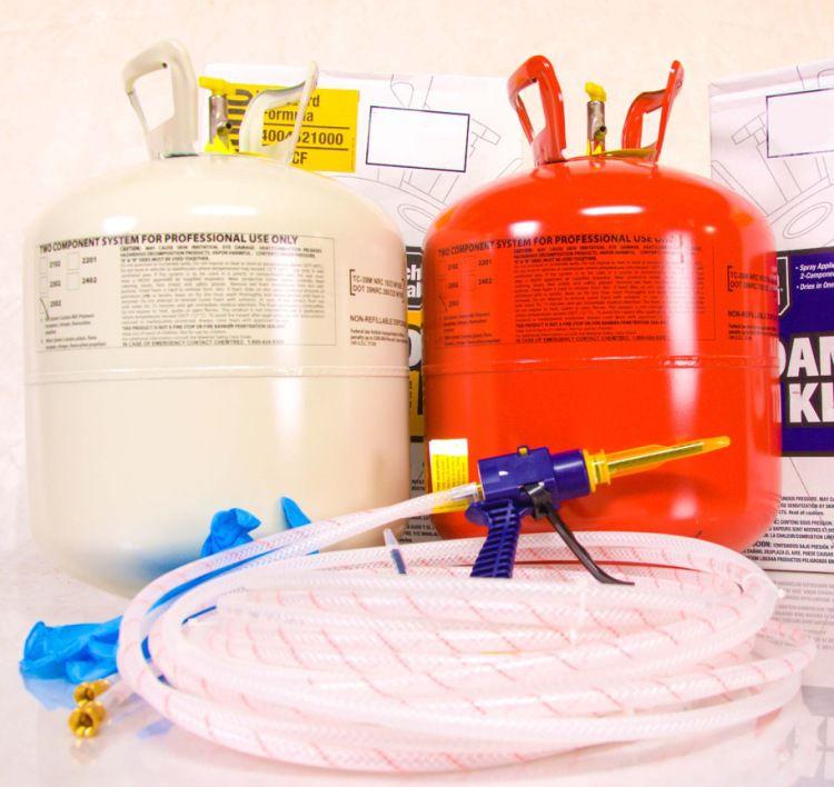 Комплект «Foam Kit» для самостоятельного утепления пенополиуретаном