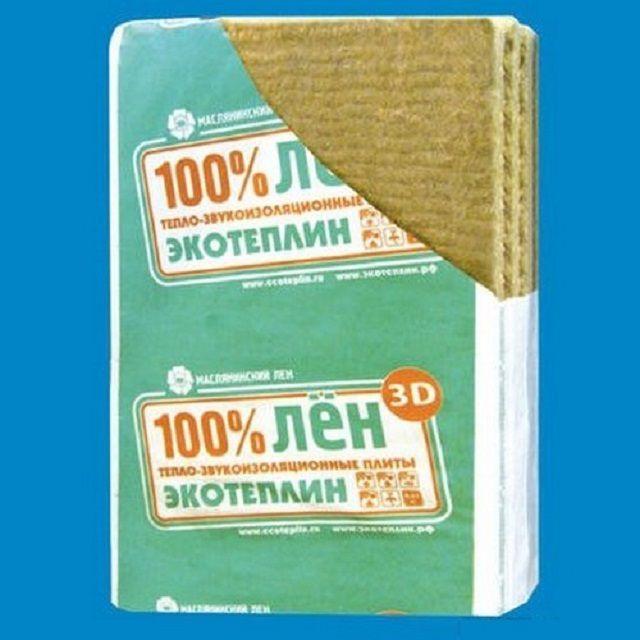 Утеплительные плиты со 100-процентным содержанием льняных волокон
