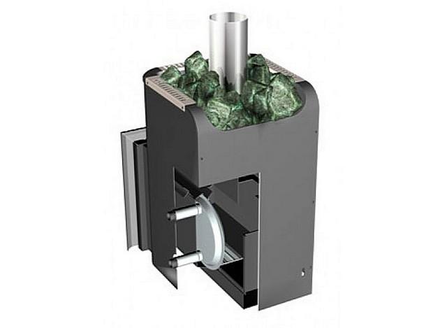Это тоже одна из модификаций банных печей «Ермак», но уже с установленным внутри теплообменником для подогрева воды