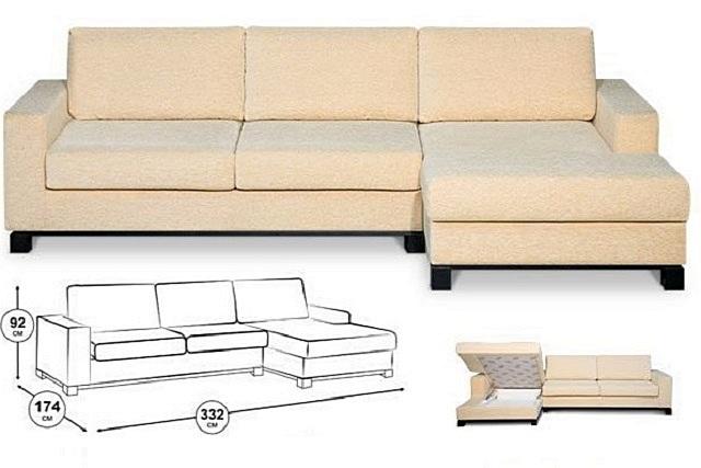 Малый уголок может расположиться слева или справа – как это нужно для конкретного места размещения готового дивана