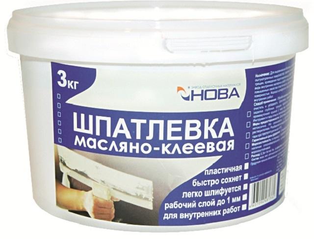 Заводская упаковка масляно-клеевой шпаклевки для внутренних работ