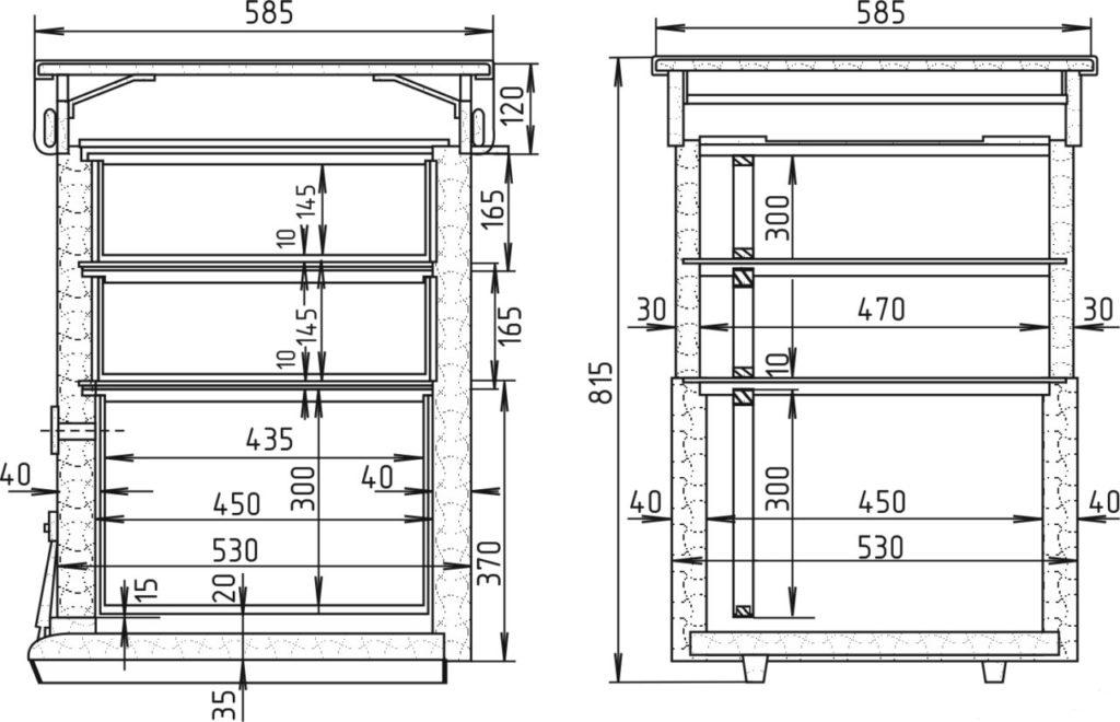 Классический 12 -ти рамочный улей Дадана : история, размеры, чертежи