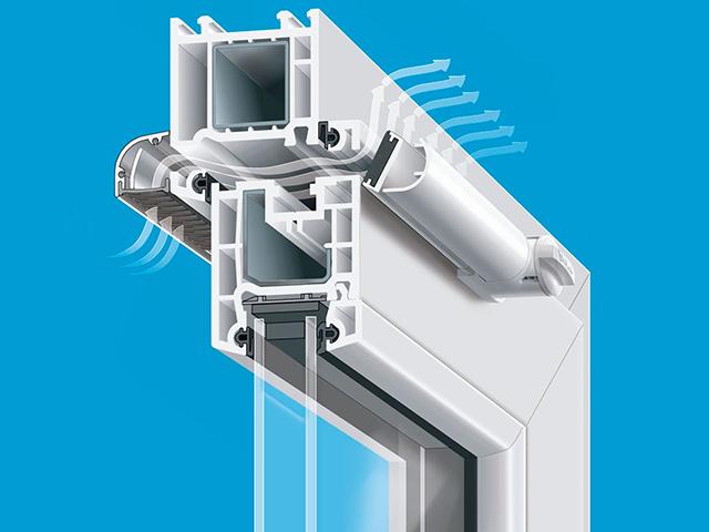 Приток воздуха можно организовать через специальные клапаны, вмонтированные в пластиковые окна