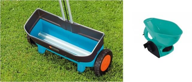 Ручные сеялки газонной травы – колесного и переносного типа