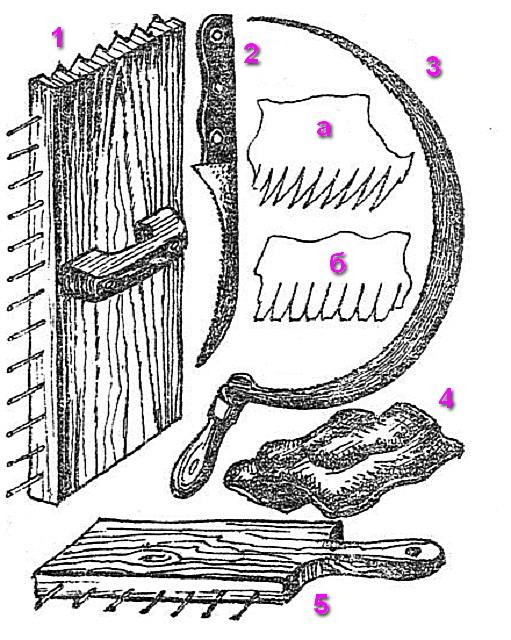 Инструменты для укладки камышовой крыши