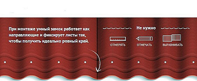 Канавки «умного замка» позволяют получить идеально ровный край выложенного ряда кровельных листов