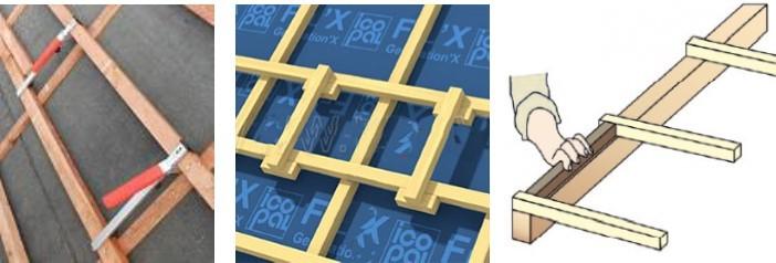 Различные типы «лошадок» - шаблонов для точного соблюдения шага установки направляющих обрешетки. Захочешь – не ошибешься…