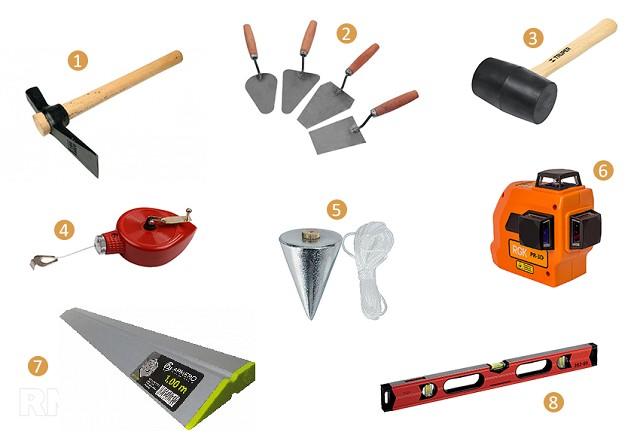 Инструментов требуется не так много, но каждый по-своему важен