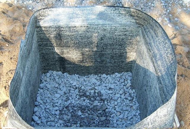 Опалубкой в данном случае служат сами стенки котлована, простеленные рубероидом