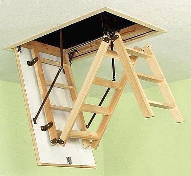 Лестница раскладная на чердак своими руками