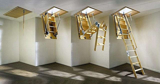 Принцип работы лестницы—«трансформера» складного типа