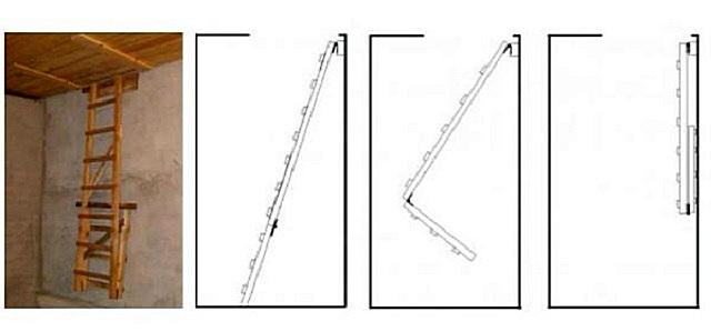 Складная чердачная лестница своими руками часть 1 83