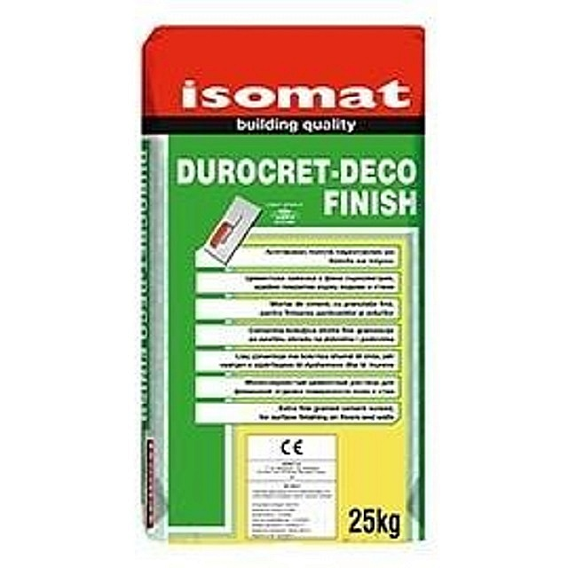 Упаковка декоративной штукатурки «под бетон» компании «Isomat»