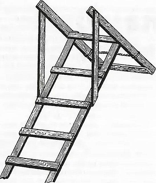 Лестницы своими руками на крышу 35