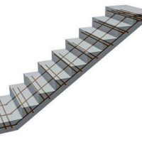 Калькулятор расчета минимального числа прутов продольного армирования лестницы